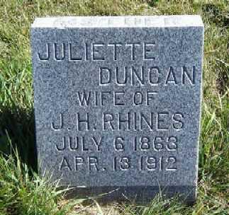 DUNCAN RHINES, JULIETTE - Clayton County, Iowa | JULIETTE DUNCAN RHINES
