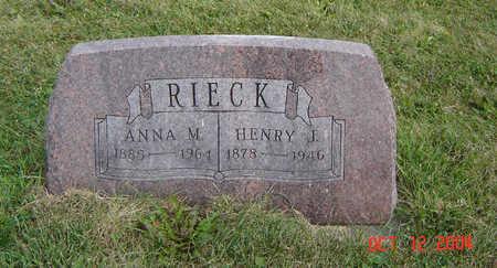 RIECK, HENRY J. - Clayton County, Iowa | HENRY J. RIECK
