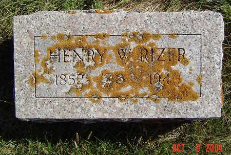 RIZER, HENRY W. - Clayton County, Iowa   HENRY W. RIZER