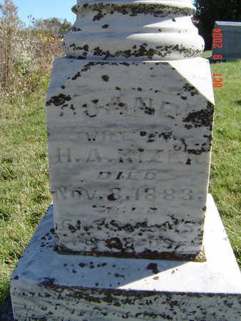 RIZER, JANE - Clayton County, Iowa | JANE RIZER