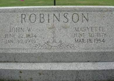 ROBINSON, JOHN W. - Clayton County, Iowa   JOHN W. ROBINSON