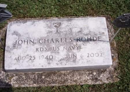 ROHDE, JOHN CHARLESL - Clayton County, Iowa | JOHN CHARLESL ROHDE