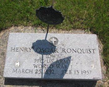 RONQUIST, HENRY OSCAR - Clayton County, Iowa | HENRY OSCAR RONQUIST