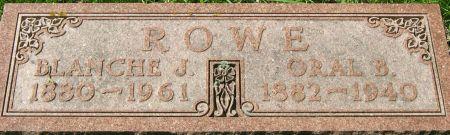 KNIGHT ROWE, BLANCHE JENNIE - Clayton County, Iowa | BLANCHE JENNIE KNIGHT ROWE