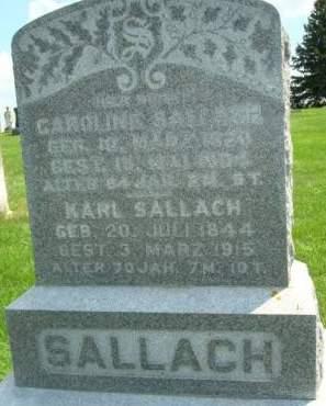 SALLACH, KARL - Clayton County, Iowa   KARL SALLACH