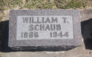 SCHAUB, WILLIAM T. - Clayton County, Iowa | WILLIAM T. SCHAUB
