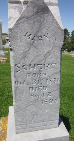 SCHERF, MARY - Clayton County, Iowa   MARY SCHERF