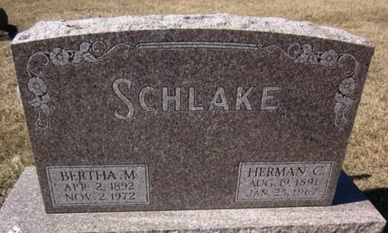 SCHLAKE, HERMAN C. - Clayton County, Iowa | HERMAN C. SCHLAKE