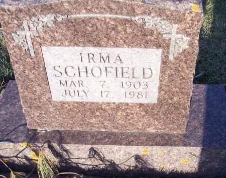SCHOFIELD, IRMA - Clayton County, Iowa | IRMA SCHOFIELD