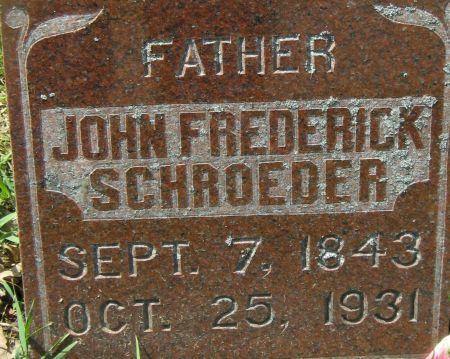 SCHROEDER, JOHN FREDERICK - Clayton County, Iowa | JOHN FREDERICK SCHROEDER