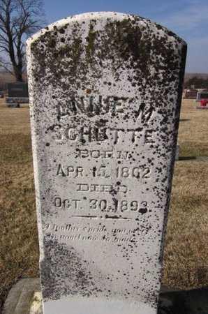 SCHUTTE, ANNIE M. - Clayton County, Iowa | ANNIE M. SCHUTTE