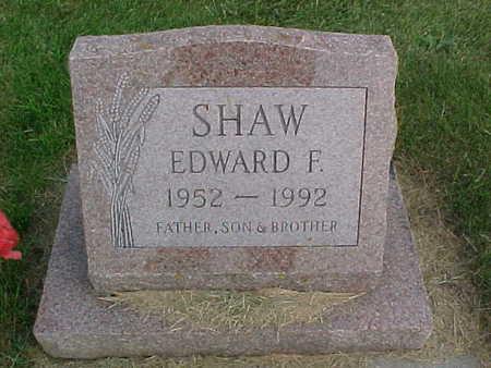 SHAW, EDWARD F. - Clayton County, Iowa   EDWARD F. SHAW