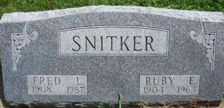 SNITKER, FRED L. - Clayton County, Iowa   FRED L. SNITKER