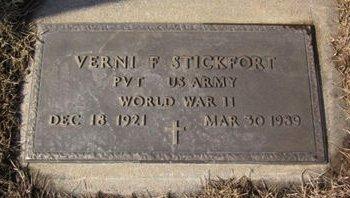 STICKFORT, VERNI F. - Clayton County, Iowa | VERNI F. STICKFORT