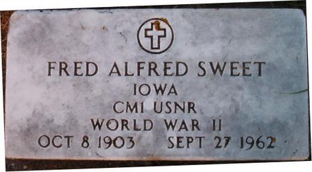 SWEET, FRED ALFRED - Clayton County, Iowa   FRED ALFRED SWEET