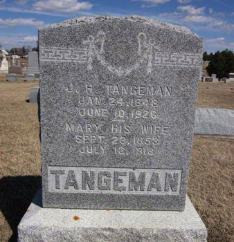 TANGEMAN, J. H. - Clayton County, Iowa | J. H. TANGEMAN