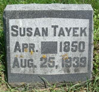 TAYEK, SUSAN - Clayton County, Iowa | SUSAN TAYEK