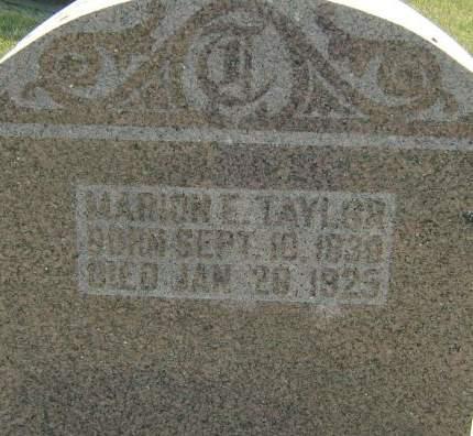 TAYLOR, MARION E. - Clayton County, Iowa   MARION E. TAYLOR