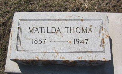THOMA, MATILDA - Clayton County, Iowa | MATILDA THOMA