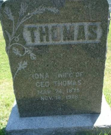 THOMAS, IONA - Clayton County, Iowa   IONA THOMAS