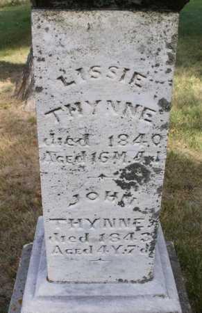 THYNNE, LISSIE - Clayton County, Iowa | LISSIE THYNNE