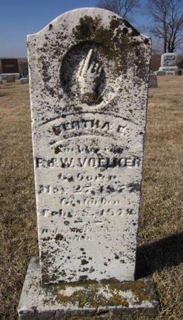 VOELKER, BERTHA - Clayton County, Iowa | BERTHA VOELKER
