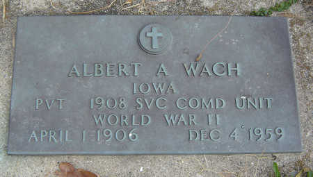 WACH, ALBERT A. - Clayton County, Iowa | ALBERT A. WACH