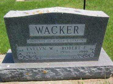 WACKER, ROBERT E. - Clayton County, Iowa   ROBERT E. WACKER