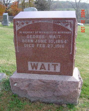 WAIT, GEORGE - Clayton County, Iowa   GEORGE WAIT