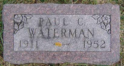 WATERMAN, PAUL C. - Clayton County, Iowa   PAUL C. WATERMAN