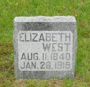 WEST, ELIZABETH - Clayton County, Iowa   ELIZABETH WEST