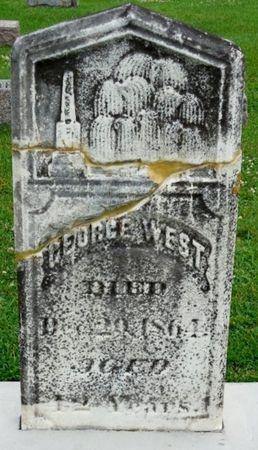 WEST, GEORGE - Clayton County, Iowa   GEORGE WEST
