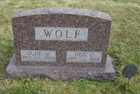WOLF, JUNE M. - Clayton County, Iowa | JUNE M. WOLF