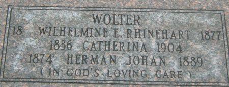 WOLTER, HERMAN JOHAN - Clayton County, Iowa | HERMAN JOHAN WOLTER