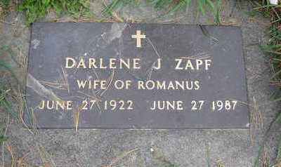 ZAPF, DARLENE - Clayton County, Iowa | DARLENE ZAPF