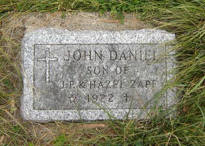 ZAPF, JOHN DANIEL - Clayton County, Iowa | JOHN DANIEL ZAPF