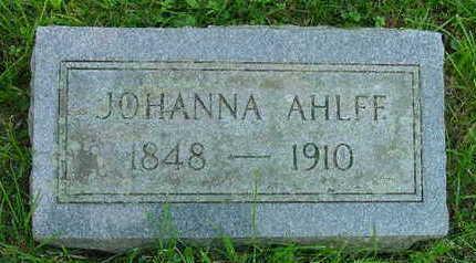 AHLFF, JOHANNA CATHERINE - Clinton County, Iowa | JOHANNA CATHERINE AHLFF