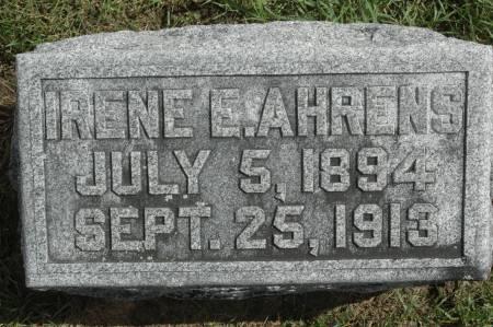 AHRENS, IRENE E. - Clinton County, Iowa   IRENE E. AHRENS