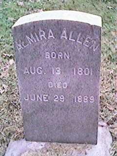 ALLEN, ALMIRA - Clinton County, Iowa   ALMIRA ALLEN