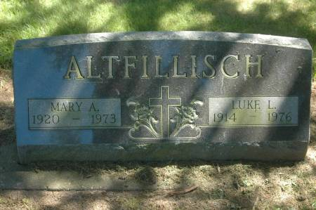 ALTFILLISCH, MARY A. - Clinton County, Iowa | MARY A. ALTFILLISCH