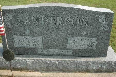 ANDERSON, ALICE MAY - Clinton County, Iowa | ALICE MAY ANDERSON