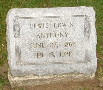 ANTHONY, LEWIS EDWIN - Clinton County, Iowa | LEWIS EDWIN ANTHONY