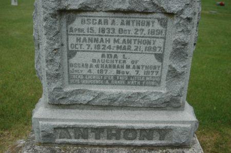 ANTHONY, OSCAR A. - Clinton County, Iowa | OSCAR A. ANTHONY