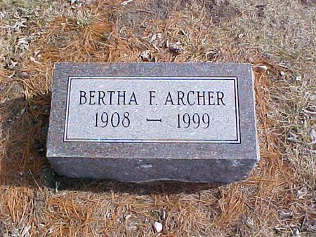 ARCHER, BERTHA FRANCIS - Clinton County, Iowa | BERTHA FRANCIS ARCHER