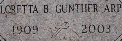 GUNTHER ARP, LORETTA B. - Clinton County, Iowa | LORETTA B. GUNTHER ARP