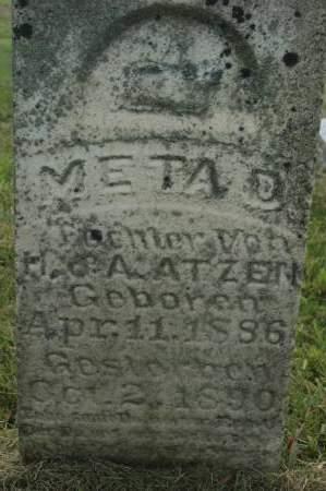 ATZEN, META D. - Clinton County, Iowa | META D. ATZEN