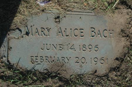 BACH, MARY ALICE - Clinton County, Iowa   MARY ALICE BACH