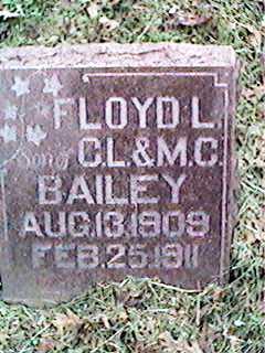 BAILEY, FLOYD L - Clinton County, Iowa   FLOYD L BAILEY
