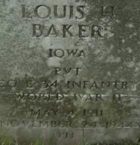 BAKER, LOUIS H. - Clinton County, Iowa | LOUIS H. BAKER