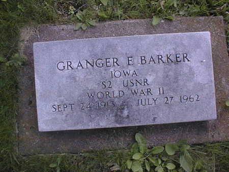 BARKER, GRANGER E. - Clinton County, Iowa | GRANGER E. BARKER